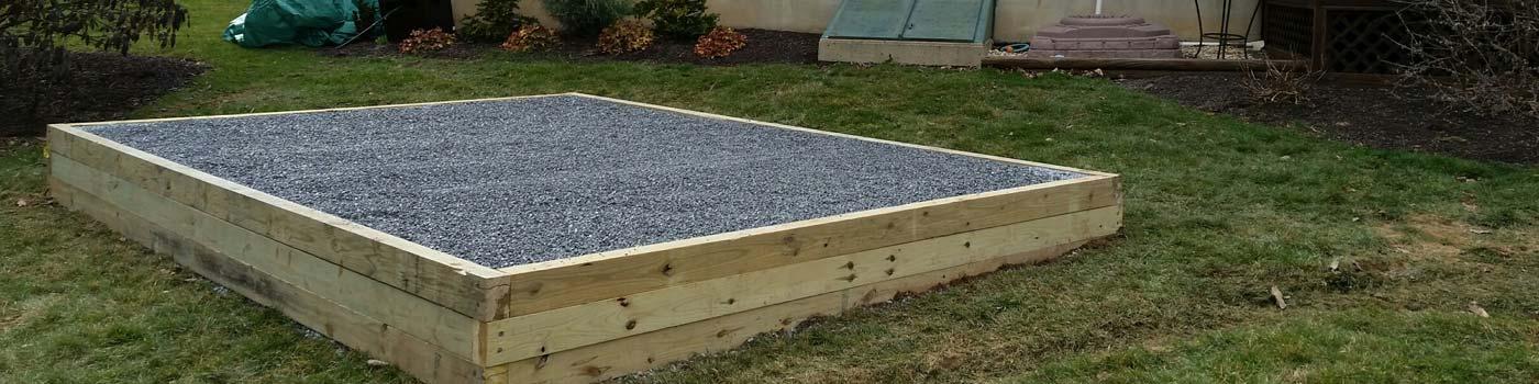 preasure treated stone foundation