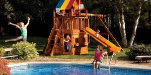Safe Swing Set for Children