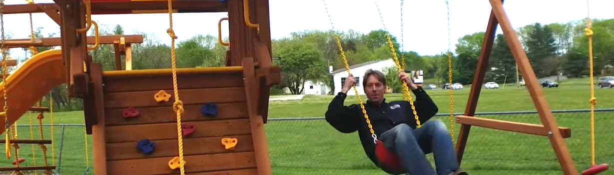 Rainbow Direct Play Set Safe and Secure from Pleasant Run Structures