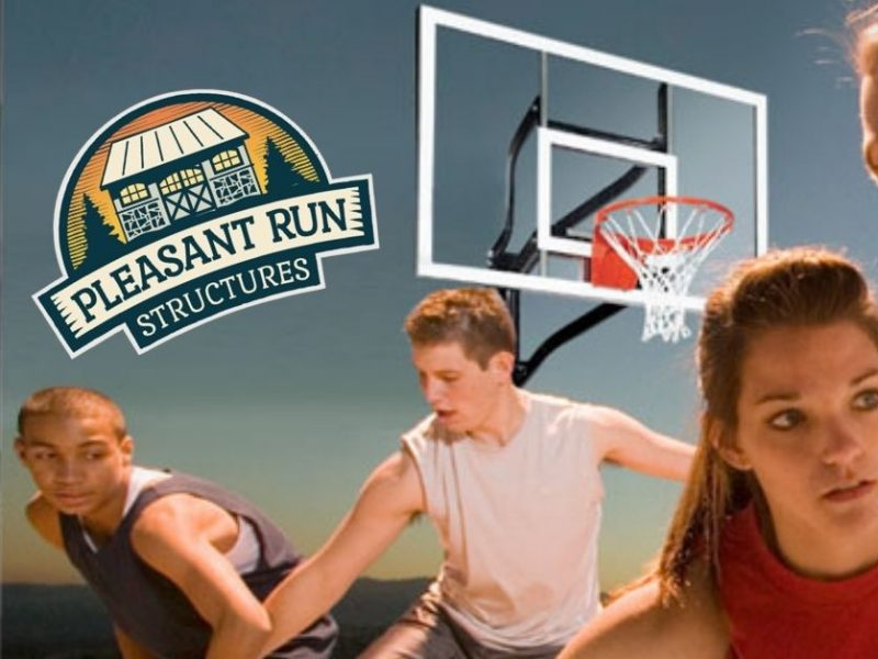 Pleasant Run Structures New Jersey Basketball Hoop