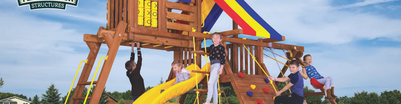 Pleasant Run Structures Rainbow swing sets in New Jersey
