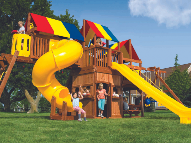 Pleasant Run Structures backyard swing set in New Jersey