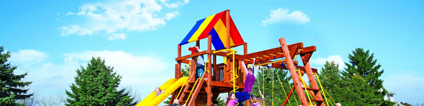 Pleasant Run Structures Flemington Rainbow Swing Sets in New Jersey